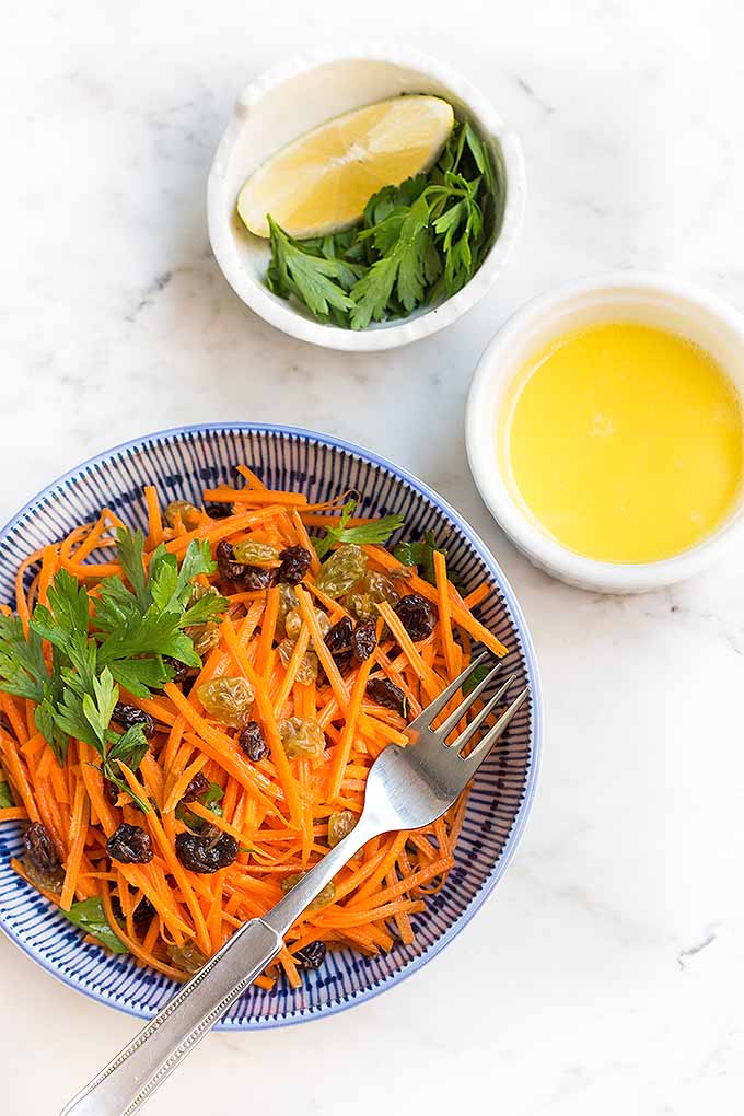 Time to get out that julienne peeler! You can whip up a batch of our fresh carrot raisin salad with lemon aioli in just minutes: https://foodal.com/recipes/salads/carrot-raisin-lemon-aioli/