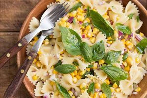 A Simple Side for Picnics and Cookouts: Fresh Corn Pasta Salad