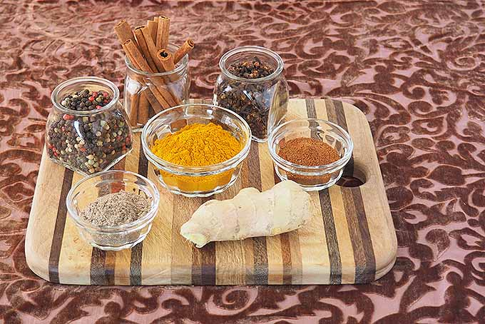 All of the amazing spices that go in to our homemade golden turmeric tea.   Foodal.com