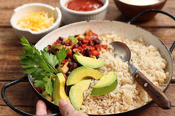 A perfect and healthy vegetarian burrito bowl. | Foodal.com