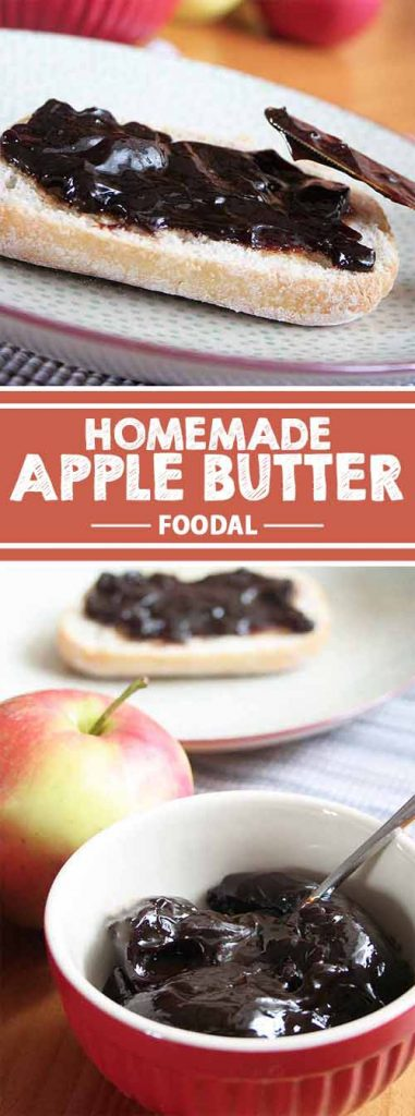 Get your daily dose of apples with this tasty homemade fruit spread. Enjoy the sweet and sticky treat of apple butter on pancakes, toast, or by the spoon. You only need apples to make this recipe, and lots of them. Find out about the secret of this gooey and simply delicious treat on Foodal. Get the recipe now!