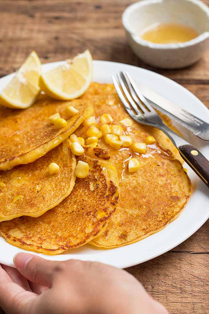 Bursting with fresh sweet corn, these cornmeal pancakes are a perfect way to start your day. We share the recipe now: https://foodal.com/recipes/breakfast/cornmeal-pancakes-with-sweet-corn/