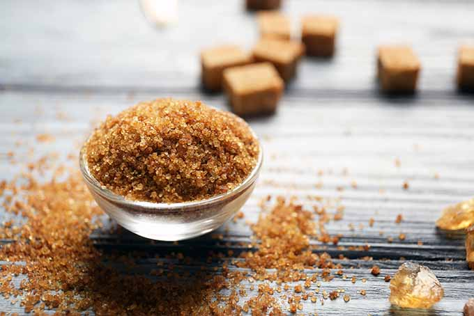 Raw sugar gets its brown coloring from molasses. | Foodal.com