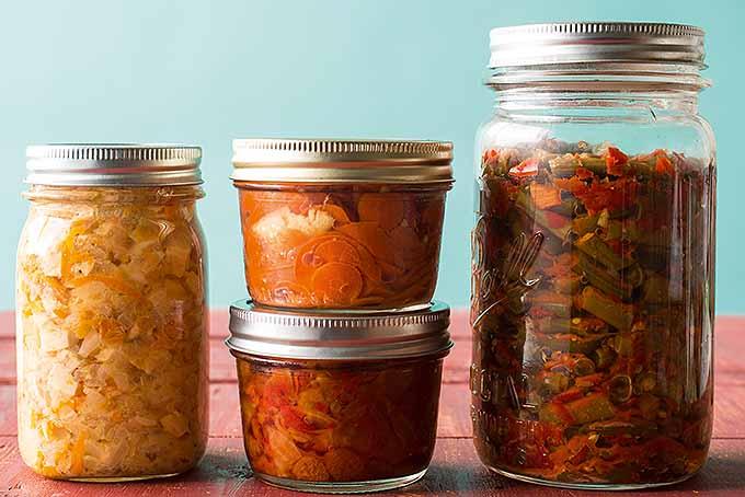 Jarred kimchi salads. | Foodal.com
