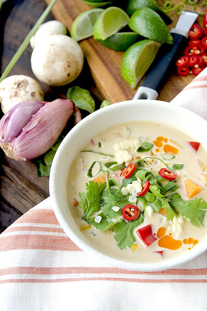 Curious about Thai Cuisine? There are so many delicious dishes for you try, like this creamy pumpkin Thai soup. Get even more recipe ideas with our round up of 15 dishes, now on Foodal: https://foodal.com/knowledge/paleo/thai-recipe-roundup/