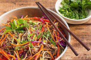 Soba Noodle Salad with Ginger Soy Vinaigrette