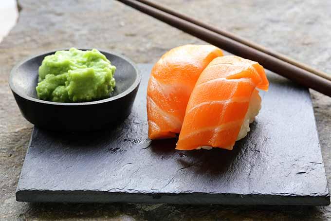 Wasabi paste accompanies sushi. | Foodal.com