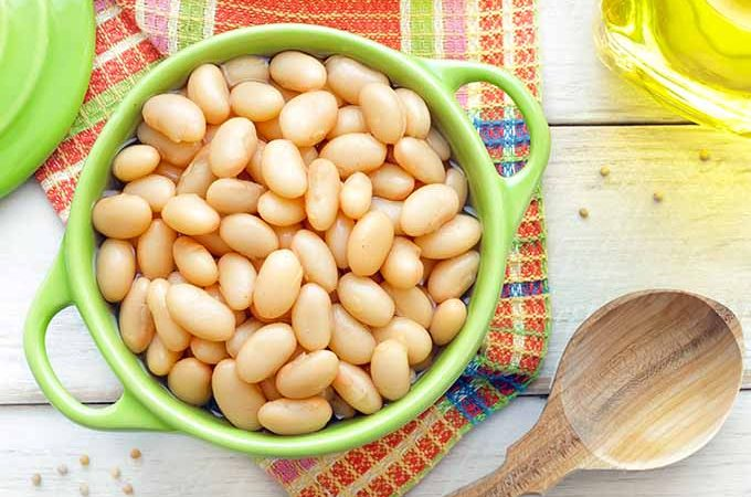 Casserole Dish Filled with White Beans | Foodal.com