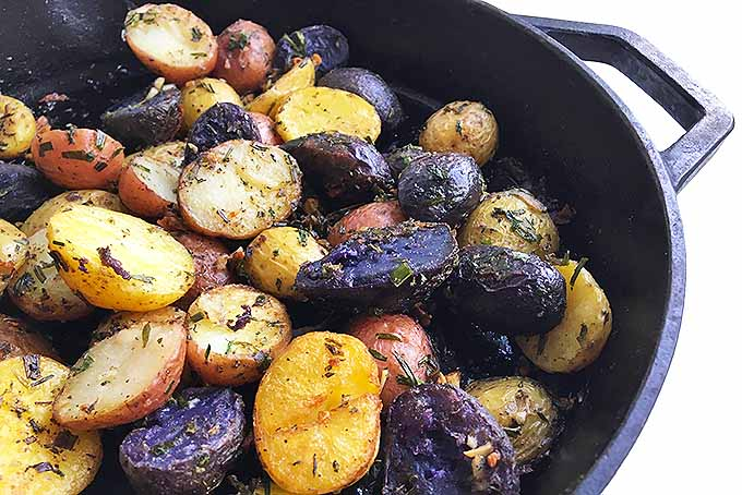 Cast Iron Roasted New Potatoes with Fresh Herbs | Foodal.com