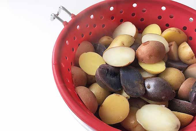 Draining Boiled Tots | Foodal.com