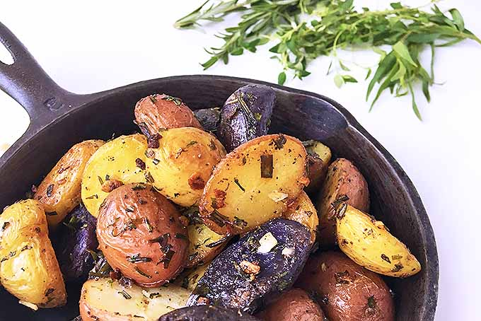 Herb Roasted Cast Iron Skillet Potatoes Favorite Recipe | Foodal.com