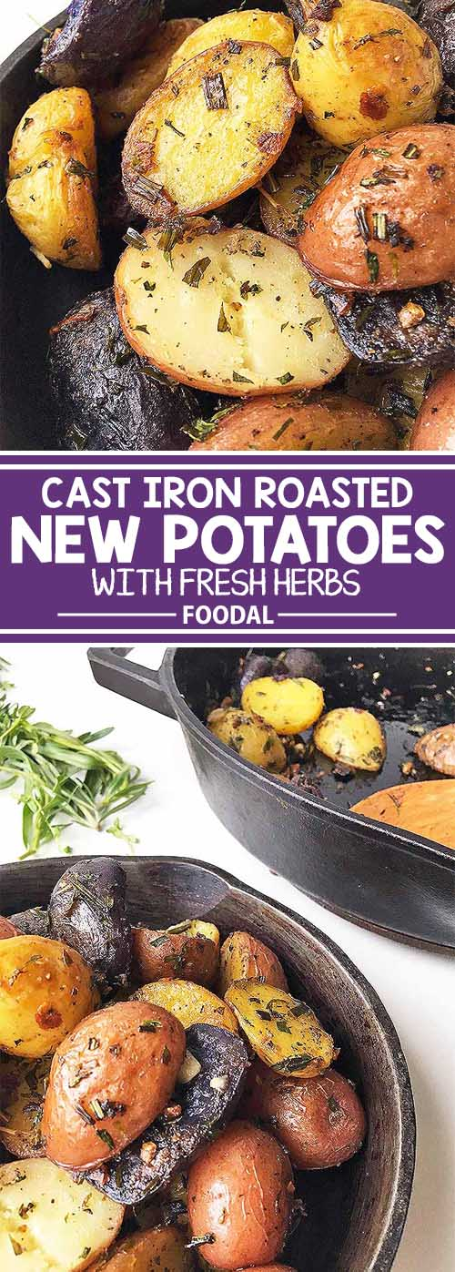 Cast Iron Roasted New Potatoes with Fresh Herbs