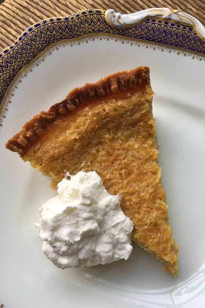 Who doesn't love a delicious custard pie in the summertime? This one's extra special, made with sweet corn. Get this recipe, and more: https://foodal.com/knowledge/paleo/best-sweet-corn-recipes/