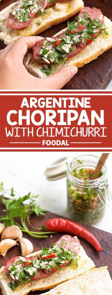 If you are a big fan of hot dogs, then you must try the choripan, the Argentine version of this classic. Made with fragrant chorizo roasted in the oven, sandwiched in a baguette, and served with a generous helping of a flavorful chimichurri sauce, hot dogs don't get much better than this! Are you ready to start cooking? Get the recipe from Foodal today!