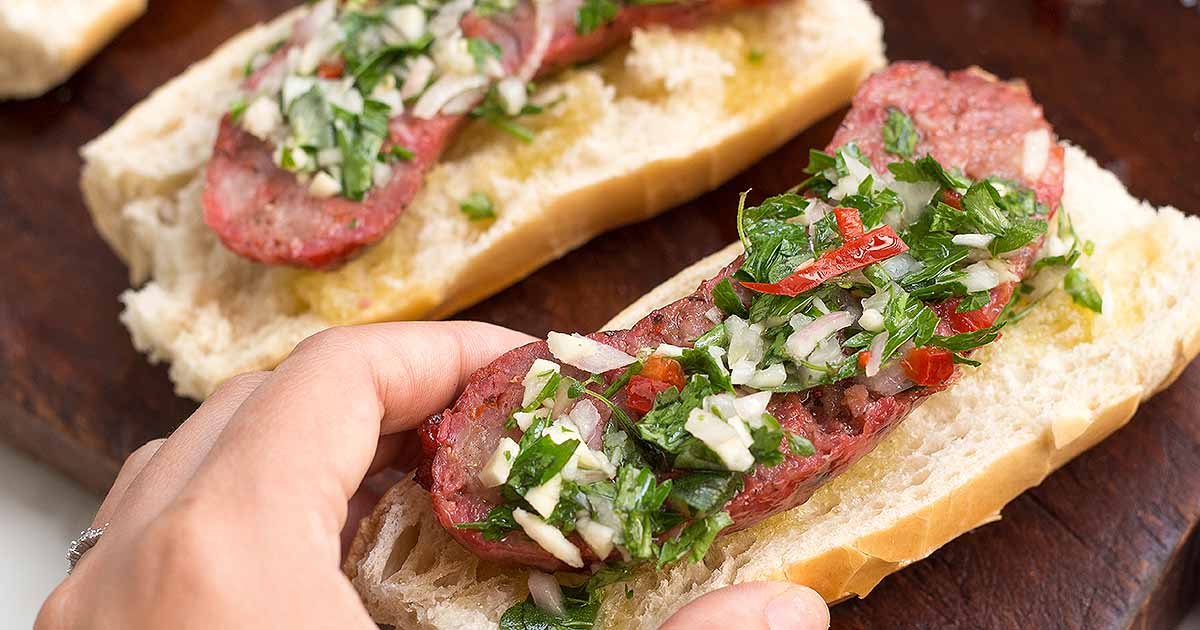The Best Argentine Choripan with Chimichurri | Foodal.com