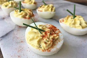 Classic No-Mayo Deviled Eggs