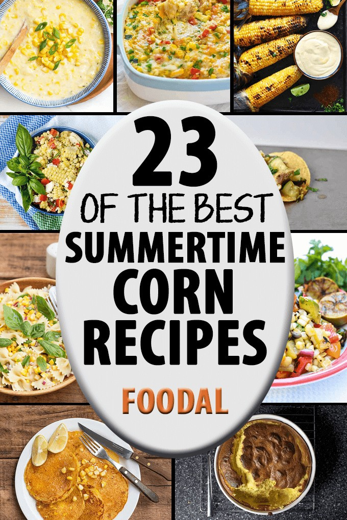 Fresh sweet corn is one of the most enjoyable foods of the summer. We've collected 23 of the best recipes on the net for your culinary pleasures. Get cooking with one of these tasty dishes now!