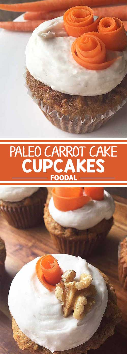Paleo Carrot Cake Cupcakes with Coconut Whipped Cream