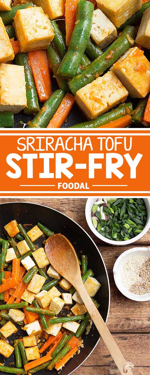 Sriracha Tofu Stir-Fry with Green Beans and Carrots