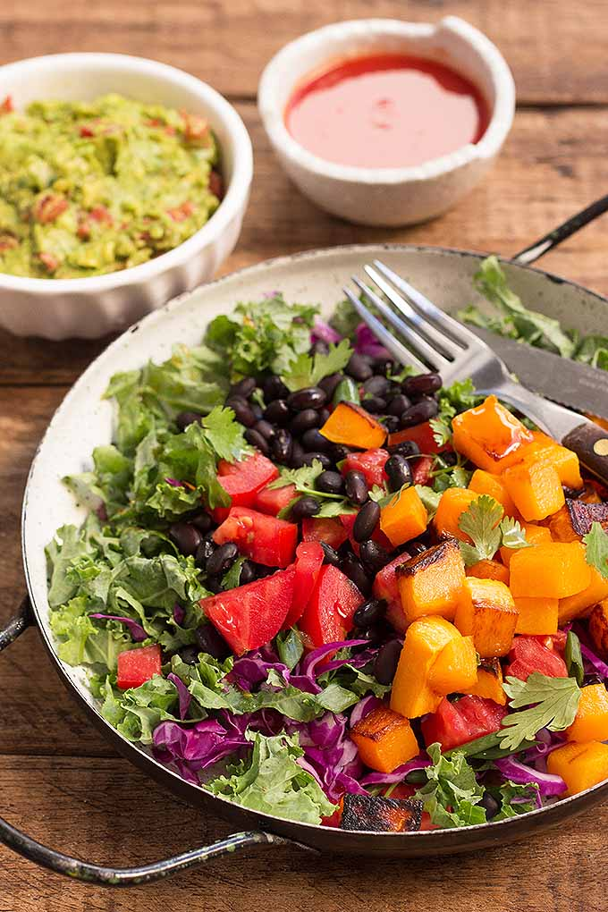 If you're bored with eating the same salads all the time, you need a change – and here's the answer! Make our Fiesta Kale Salad! You'll love bright colors and amazing flavors. We share the recipe now: https://foodal.com/recipes/salads/fiesta-kale-salad/
