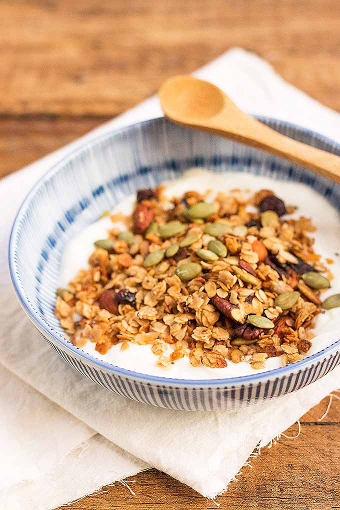 Our easy homemade granola is great to kick off your morning! We share the recipe: https://foodal.com/recipes/breakfast/make-granola/