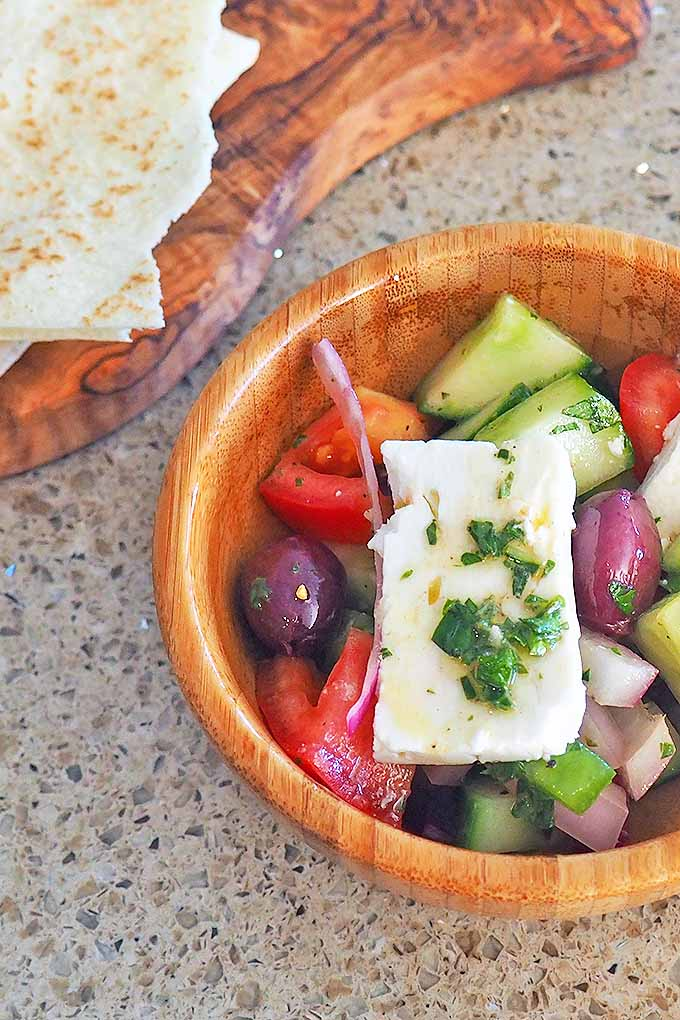 The Greek salad is made of simple, fresh ingredients and big flavor! Get our delicious recipe here: https://foodal.com/recipes/salads/classic-greek-salad/