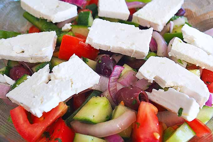 Greek Salad with Fresh and Simple Ingredients | Foodal.com