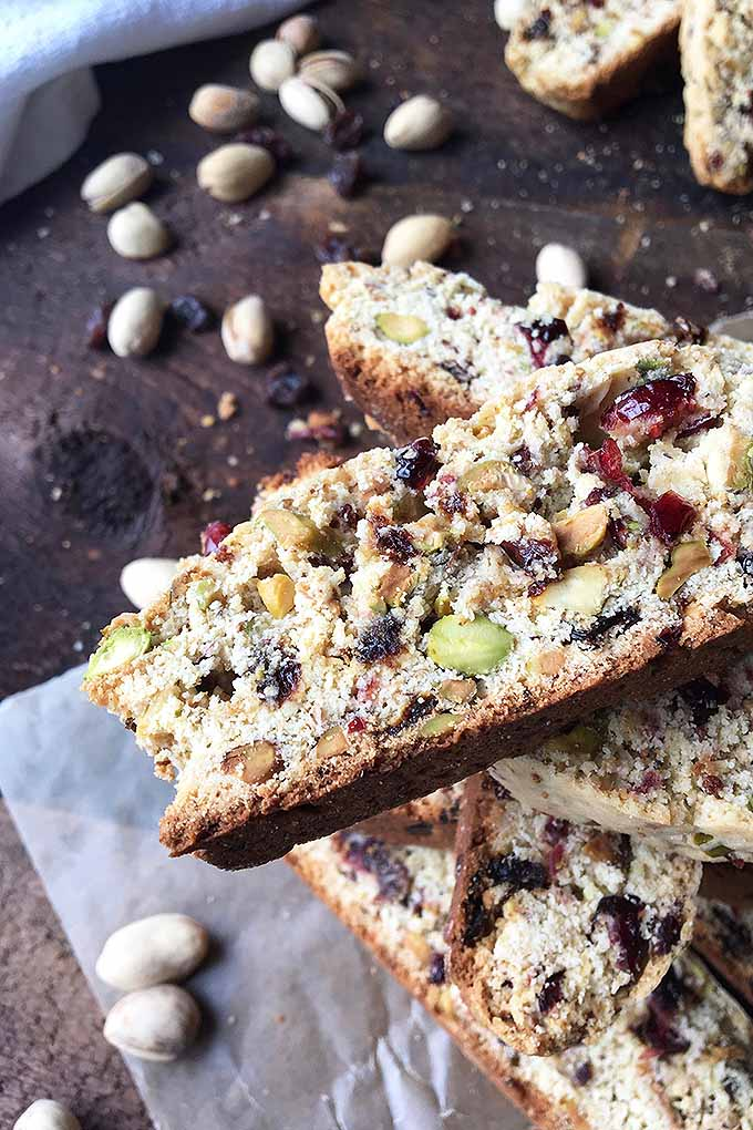 You'll love biscotti! This Italian specialty is easy to make in your home! Our recipe has nuts and assorted dried fruits for extra texture and flavor. Make them now: https://foodal.com/recipes/deserts/italian-biscotti-cookies-with-dried-cherries-raisins-and-pistachio-nuts/