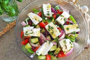 The Classic Greek Salad:  Simple Ingredients, Fabulous Flavors