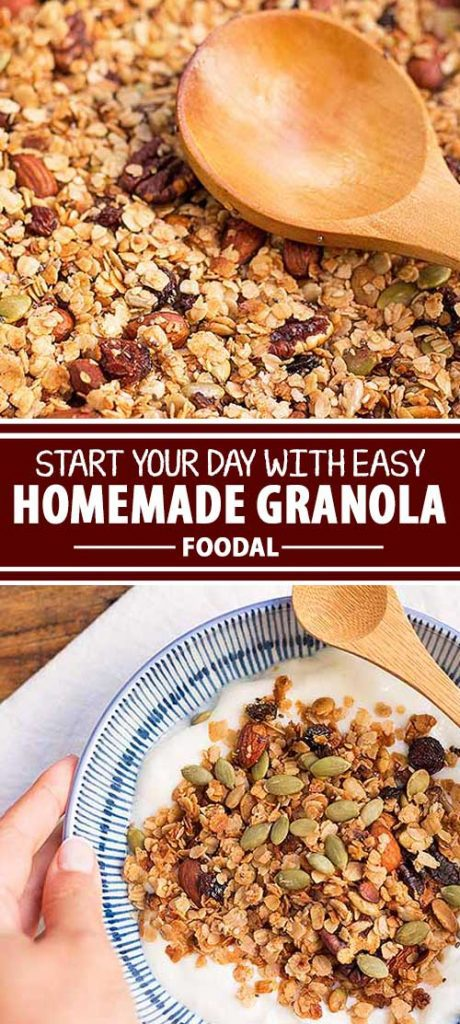 We love starting our mornings with a healthy, protein-filled breakfast that can last us all the way till noon. If you're like us, having a quick option like this homemade granola is a lifesaver, allowing you to enjoy a nutritious breakfast in just minutes. Better yet, it can be made easily, and in big batches. Excited to make your own granola now? Get the recipe from Foodal today!