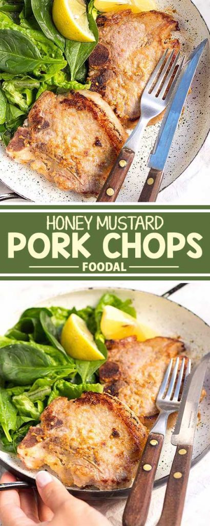 During the weekdays, you don't want to spend too much time cooking dinner, especially after a long day at work. This recipe for simple but delicious pork chops, marinated in a honey mustard sauce and served with a fresh salad, is going to be a favorite in your weeknight dinner rotation. Click to get the recipe from Foodal today!
