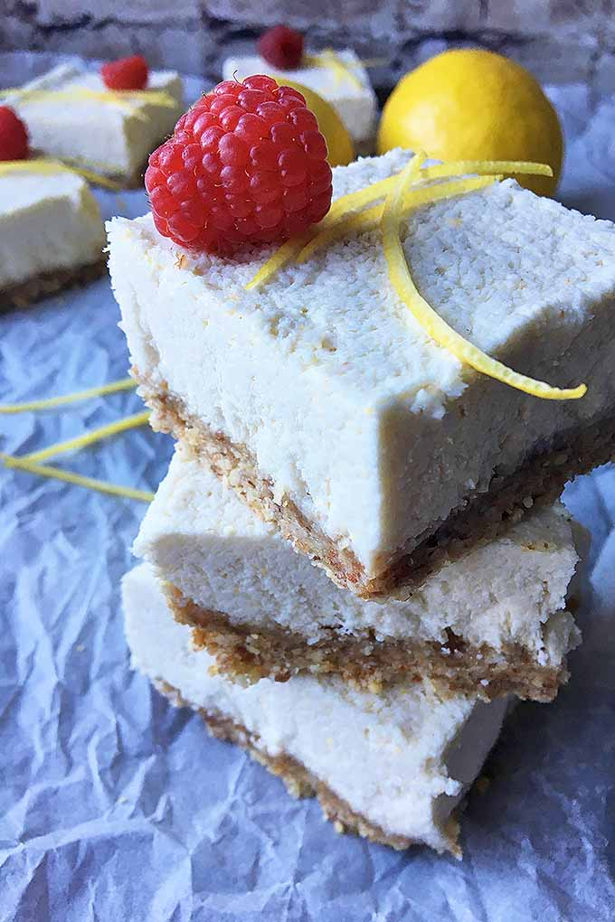 With ingredients like fresh lemon juice, nuts, dates, and coconut cream, our raw and vegan version of lemon bars are a healthy treat to satisfy any sweet craving! We share the recipe now: https://foodal.com/recipes/desserts/raw-and-organic-lemon-bars/
