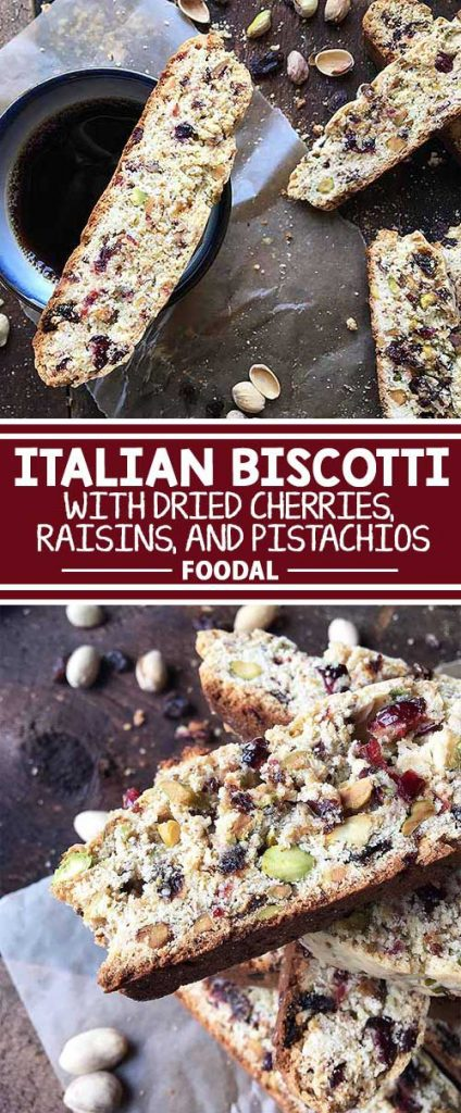 Make your biscotti something extra special with ingredients like dried cherries, raisins, and nutty pistachios! Accompanied by a hot cup of coffee or covered in melted chocolate, these colorful treats can be enjoyed in so many tasty ways. Follow our easy recipe, and make this sweet Italian specialty in your home. Now on Foodal!