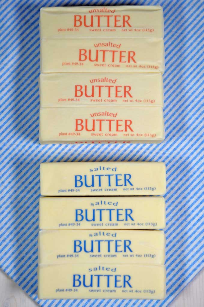 Can you substitute salted and unsalted butter in your baking? Find out now with our inclusive butter baking guide! https://foodal.com/knowledge/baking/unsalted-vs-salted-butter/