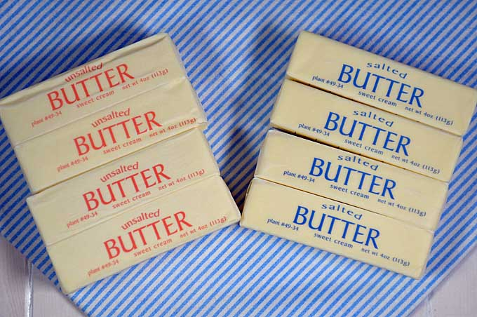Salted and Unsalted Sticks of butter | Foodal