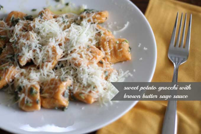 Sweet Potato Gnocchi in Sage Brown Butter