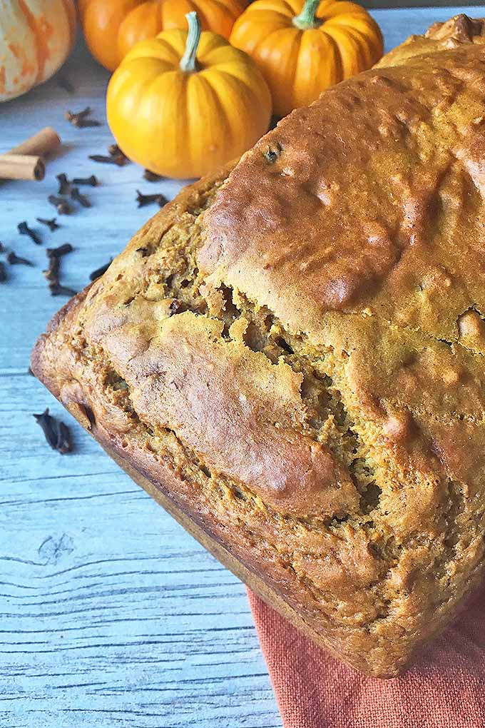 Enjoy a thick slice of pumpkin spice bread, made with a beautiful blend of spices, pumpkin puree, and other simple ingredients. We share our recipe: https://foodal.com/recipes/breads/pumpkin-spice-bread/
