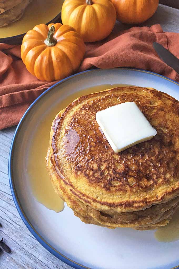 Enjoy autumn first thing in the morning with our pumpkin spice pancakes. Get the recipe now: https://foodal.com/recipes/breakfast/pumpkin-spice-pancakes/