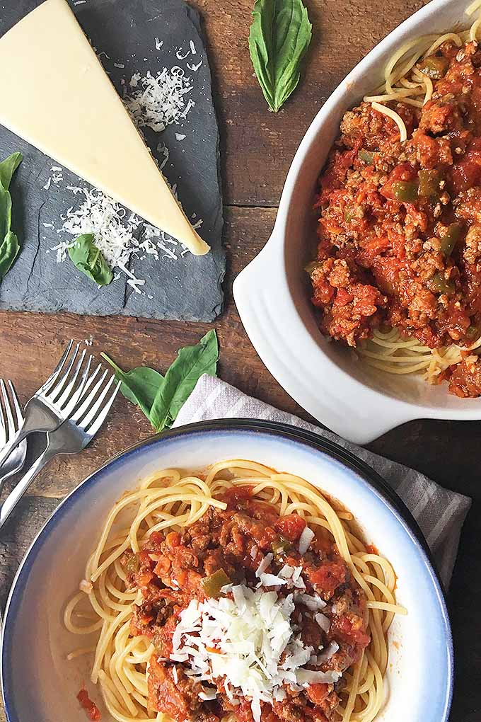 Learn how to make a delicious, hearty, and meaty slow cooker spaghetti sauce. We share the recipe now: https://foodal.com/recipes/sauces/slow-cooker-spaghetti-meat-sauce/