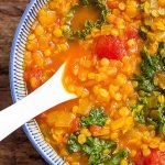 The Best Turmeric Red Lentil Soup with Kale | Foodal.com