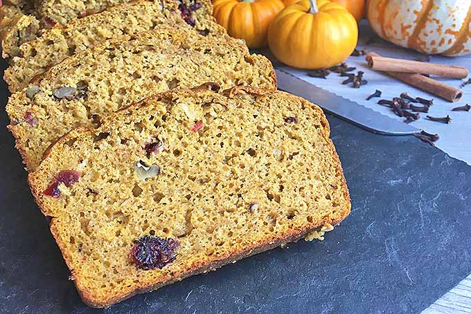Thick Slices of Homemade Pumpkin Nut Bread | Foodal.com