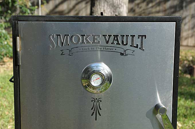 The top half of a Camp Chef Smoke Vault | Foodal
