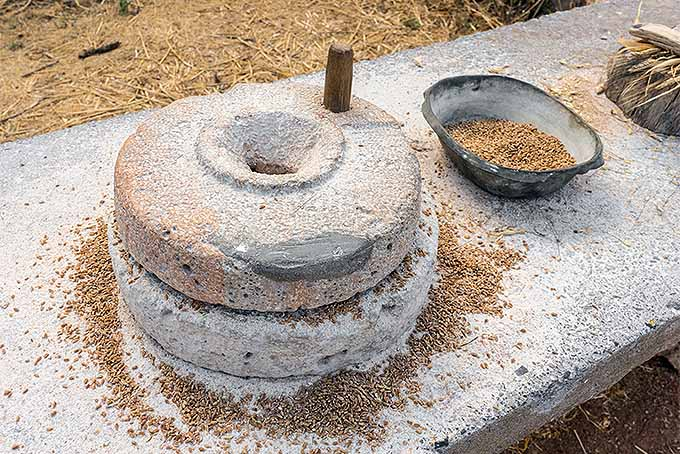 Old-Fashioned Stone Mill to Grind Flour | Foodal.com