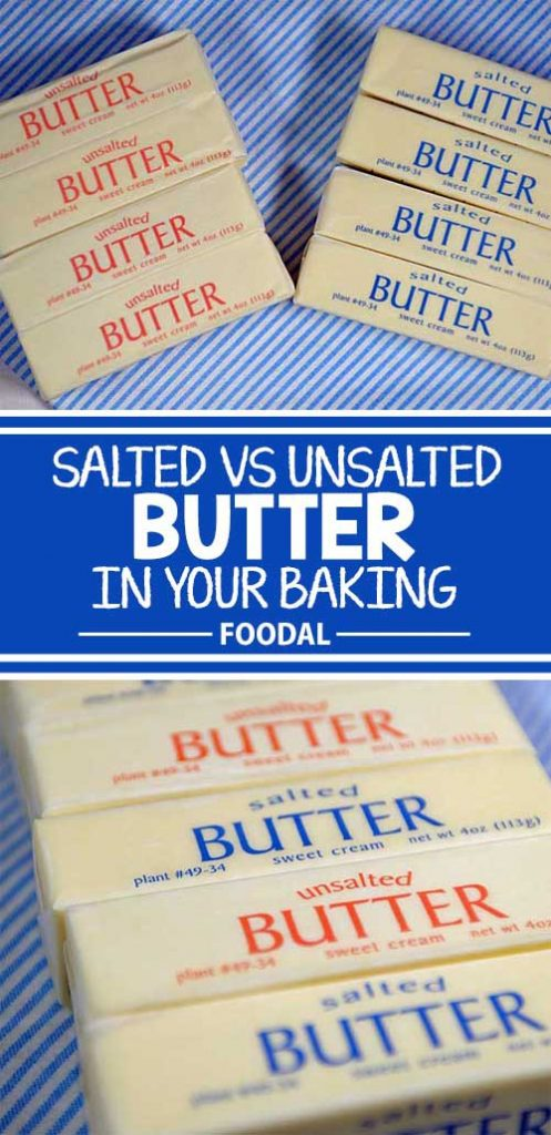 What's the difference between using salted and unsalted butter in baking? Does it matter? Where flavor's concerned, it certainly does! We'll help to clarify this common situation (pun intended). Read more now on Foodal. #bakingtips #cookingtips #baking #culinary