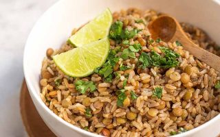 Make a Bold Statement for Your Next Side Dish with Lentil and Brown Rice Salad