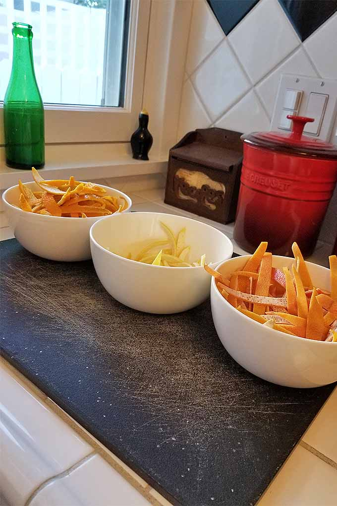Candied citrus peel is a holiday favorite. Learn how to make it at home with three different flavor finishes on Foodal: https://foodal.com/recipes/candy/candied-citrus-peel/