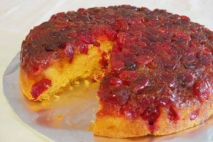 Cranberry Upside Down Cake: A Jewel for the Holiday Table