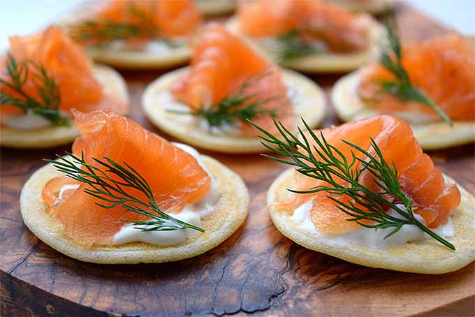 Gin Dill Cured Salmon Blini | Foodal.com