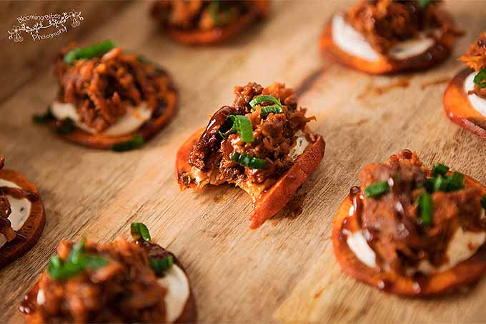 Pulled Pork Sweet Potato Bites | Foodal.com