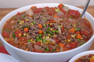 Cheap and Easy Hamburger Soup